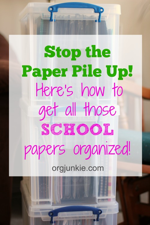 Stop the Paper Pile Up - back to school strategy