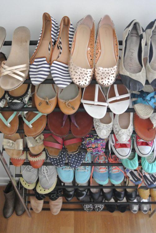 decluttering shoes