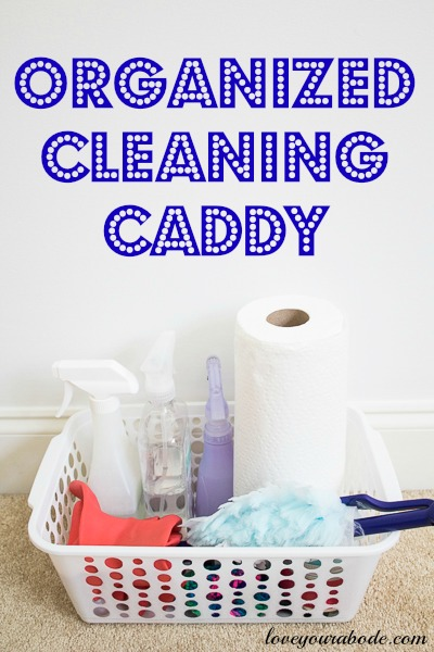Organized Cleaning Caddy at I'm an Organizing Junkie blog