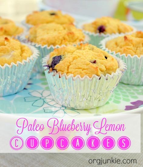 Paleo Blueberry Lemon Cupcakes 2