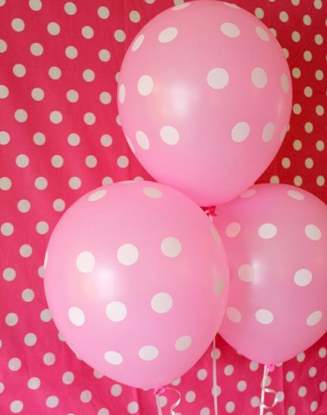 polka dot party balloons 1