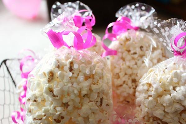 polka dot popcorn bags