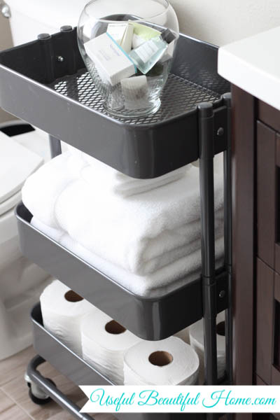 bathroom organizing with an ikea raskog cart - Bathroom Cart