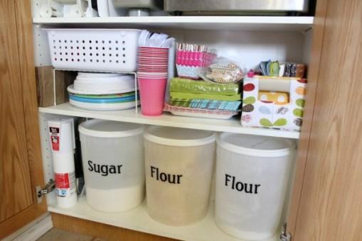 kitchen cupboard bottom after