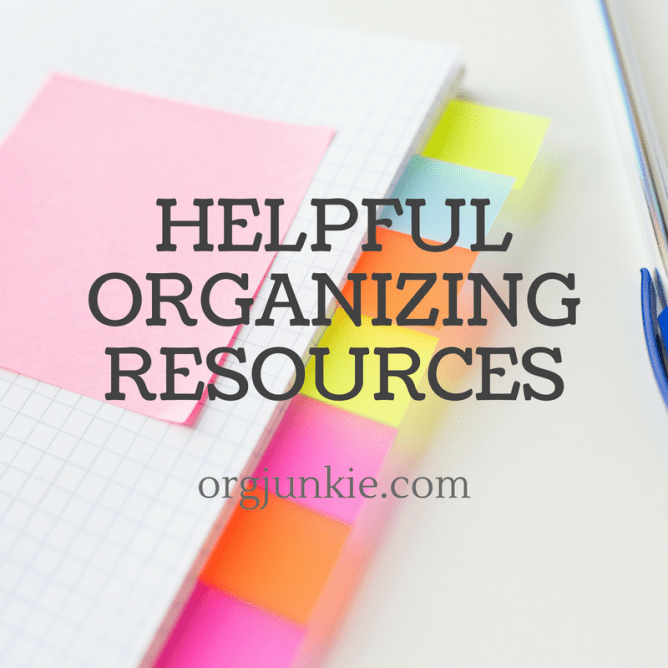November 2016 ~ Helpful organizing resources to help you get your life in order and be chaos and clutter free at I'm an Organizing Junkie blog