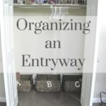 An Easy & Simple System for an Organized Entryway