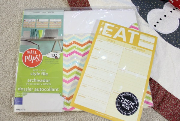 wall pocket files and menu planner