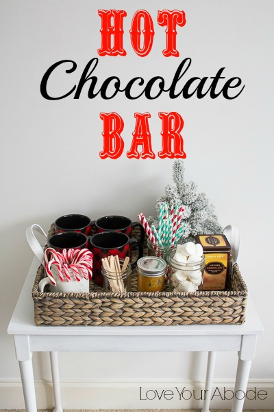 A Delicious Hot Chocolate Bar to Enjoy this Season at I'm an Organizing Junkie blog