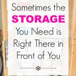 Sometimes the Storage You Need is Right There in Front of You