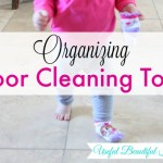 Organized Floor Cleaning Tools