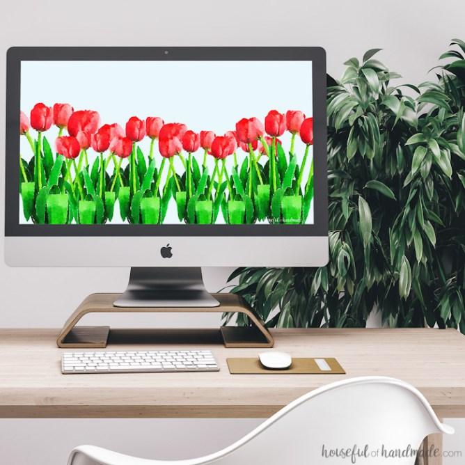 free spring desktop background