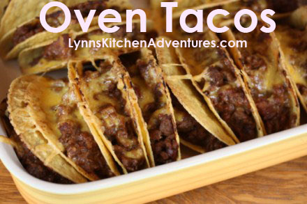 Easy recipes kids can cook - oven baked tacos