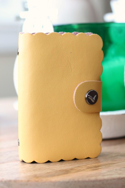 pretty yellow card holder