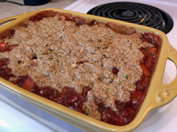 Paleo Strawberry Apple Crisp