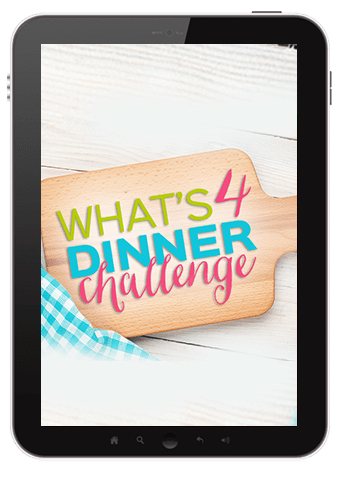 What's 4 Dinner Challenge eCourse to help you finally figure out menu planning!
