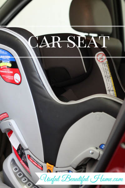 7 kids zones for spring cleaning - car seat