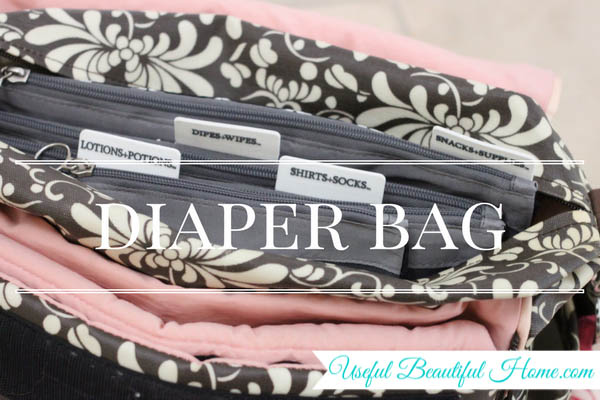 7 kids zones for spring cleaning - diaper bag