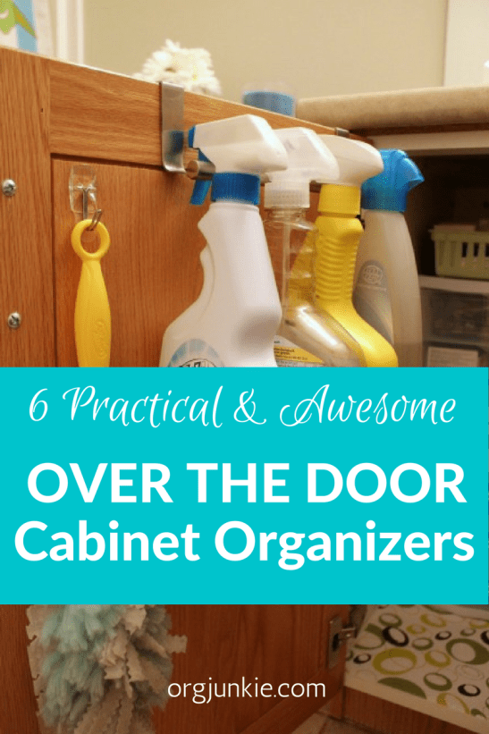 Over the door cabinet organizers