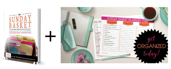 Organization 101 - the Sunday Basket to get your papers organized! at I'm an Organizing Junkie blog