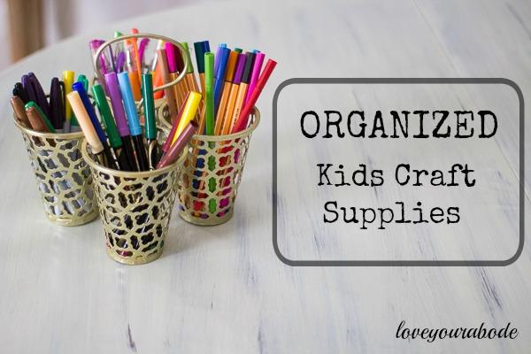 Organized Kids Craft Supplies