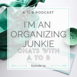 Chatting All Things Organization on the A to B Organizing Podcast
