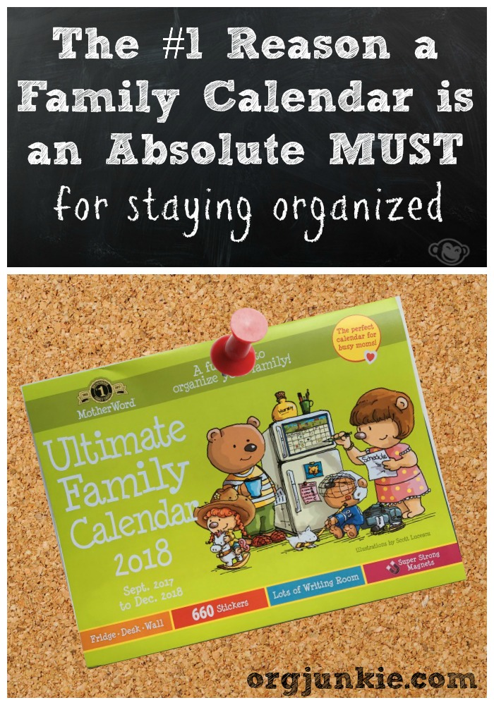 a family calendar is a must! - back to school strategy