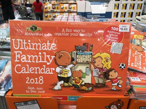 Ultimate Family Calendar 2018 Costco