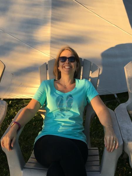 Relaxing on vacation near Jasper, Alberta