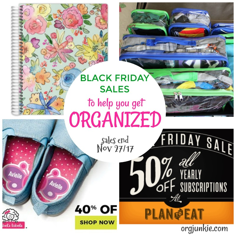 Black Friday Sales to help you get organized at Im an Organizing Junkie blog
