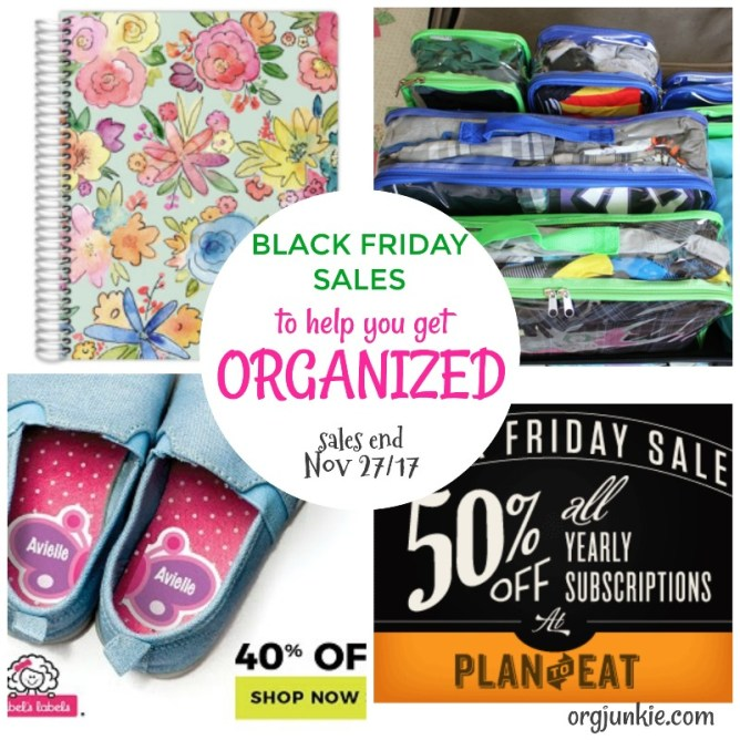 Black Friday Sales to help you get organized at I'm an Organizing Junkie blog