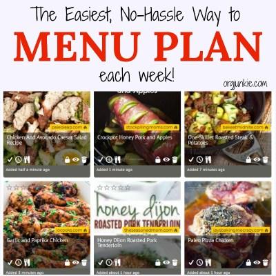 The Easiest No Hassle Way to Menu Plan each week - Black Friday weekend sale