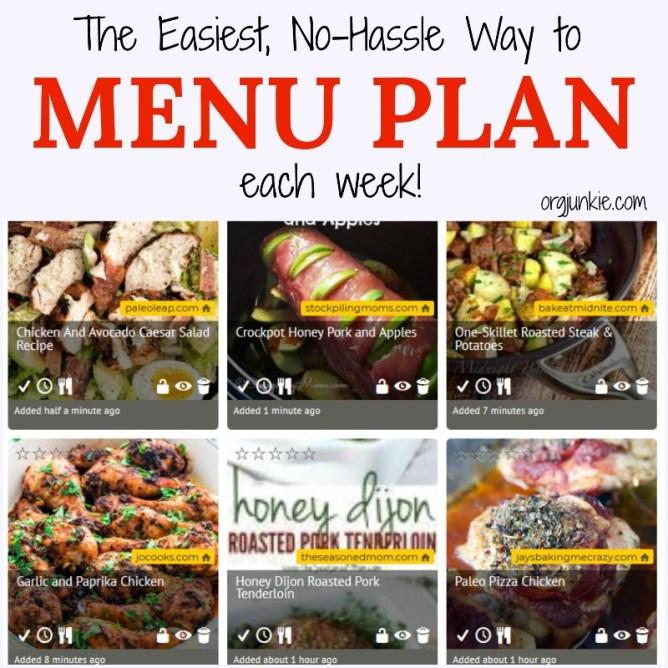 The Easiest, No-Hassle Way to Menu Plan Each Week