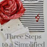 Three Steps to a Simplified Closet