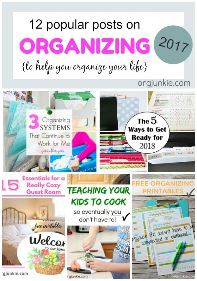 My 12 popular organizing posts on I'm an Organizing Junkie blog