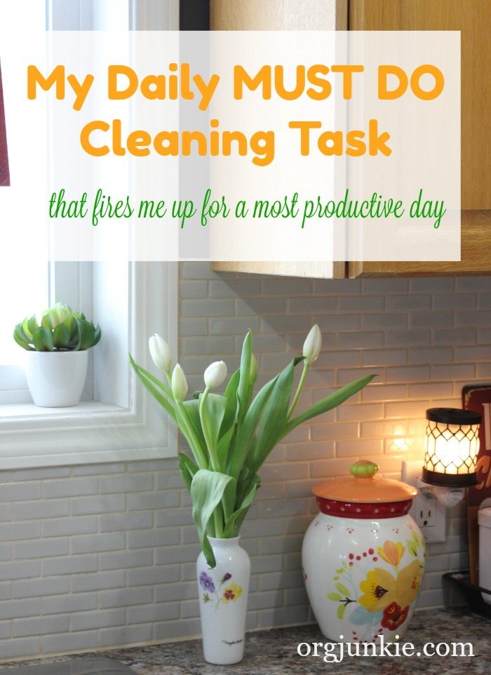 My Daily Must Do Cleaning Task at I'm an Organizing Junkie blog