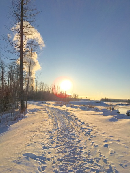 Beautiful sunny day in northern Alberta, Canada