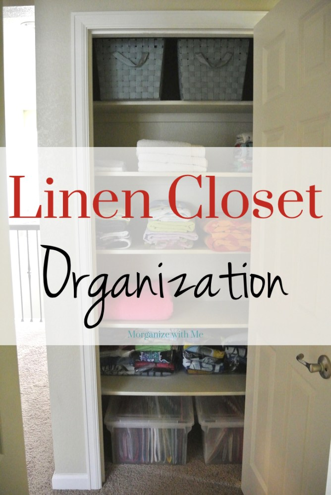 Two Simple (yet smart!) Tips for Organizing a Linen Closet at I'm an Organizing Junkie