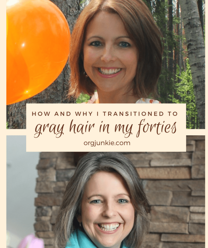 How and Why I Transitioned to Gray Hair in my Forties