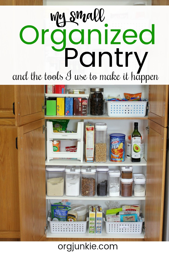 My Small Organized Pantry and How I Maximize Space