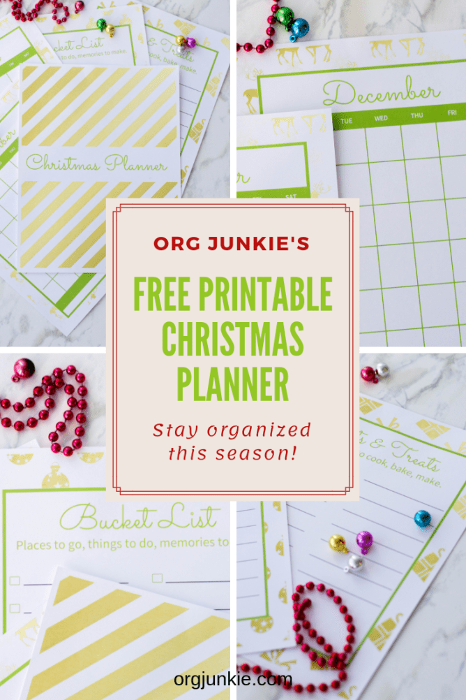 My FREE printable Christmas Planner