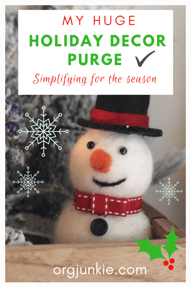 My HUGE holiday decor purge at I'm an Organizing Junkie