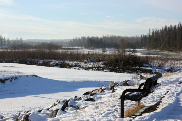 Gorgeous winter day by the river