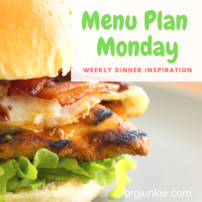 Menu Plan Monday for the week of July 22/19 ~ weekly dinner inspiration to help you get dinner on the table each night with less stress and chaos!