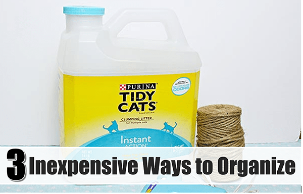 3 Inexpensive Ways to Organize