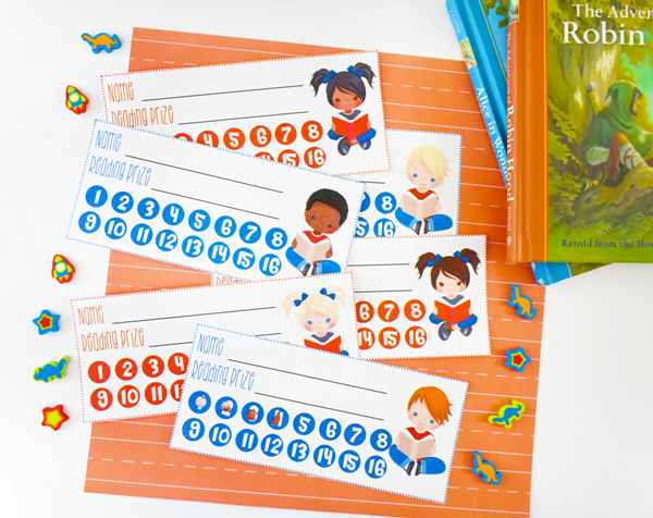 Free Printable Reading Punch Cards