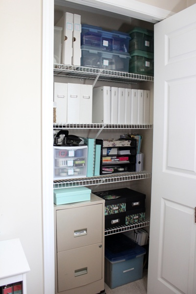 My Organized Home Office - closet