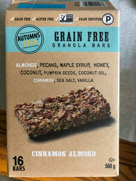 Costco grain free bars by Autumn's Gold