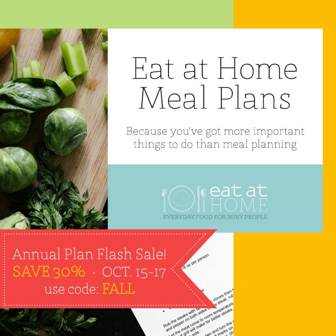 Eat at Home Meal Plans ~ Menu Planning Done For You!