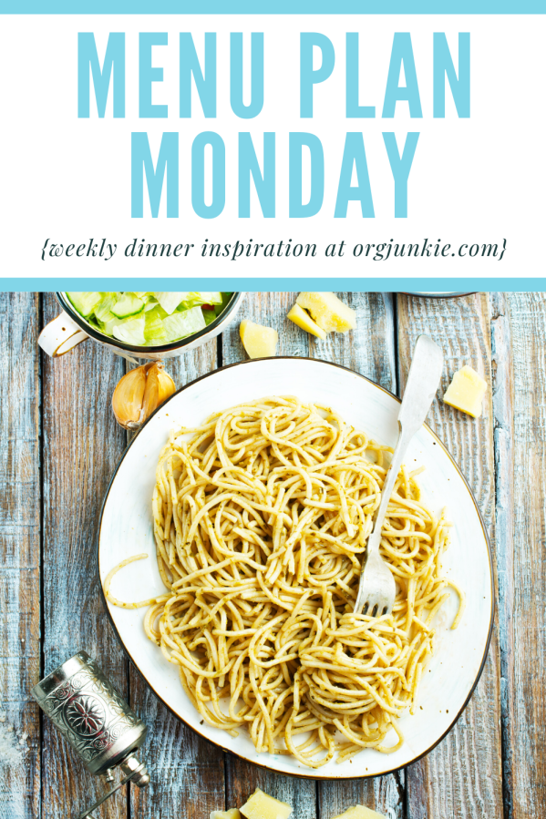 Menu Plan Monday for the week of Aug 3/20 ~ weekly dinner inspiration for a less stressful and chaotic dinner hour