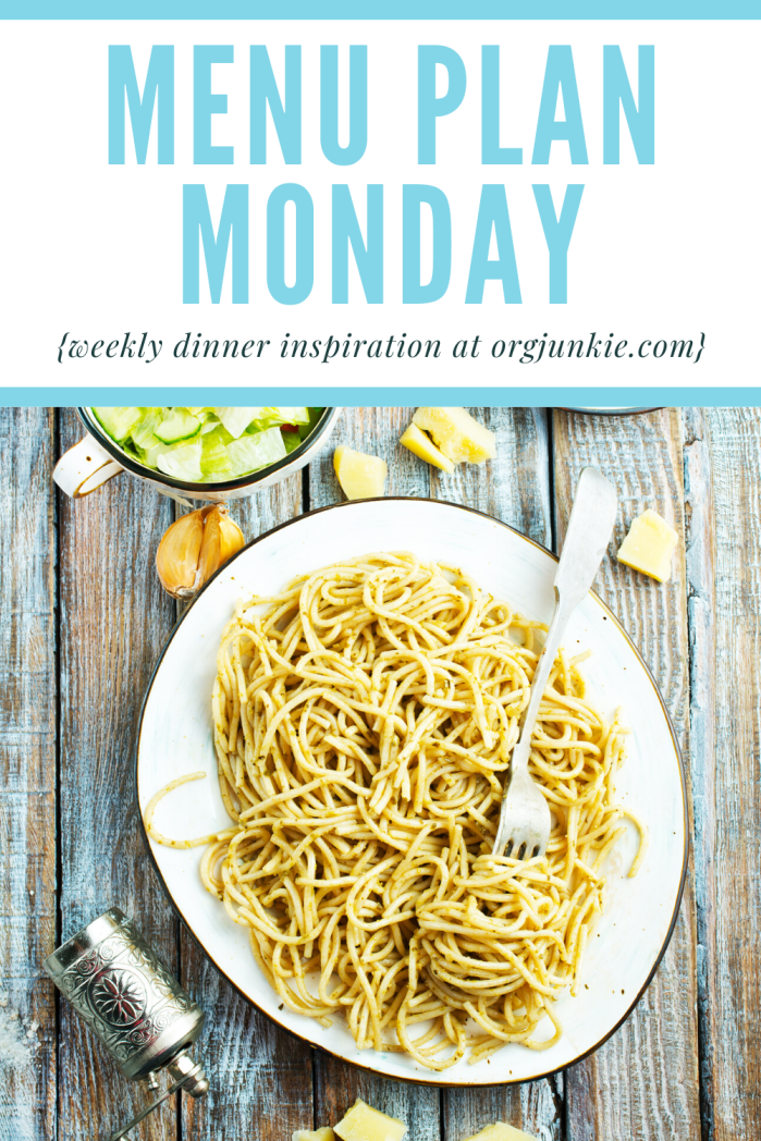 Menu Plan Monday for the week of July 27/20 ~ weekly dinner inspiration for a less stressful and chaotic dinner hour
